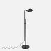 Otis Articulating Floor Lamp - Upright View - Slanted Shade