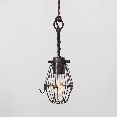 Basic Wire Bulb Cage Pendant Light - Simple Socket