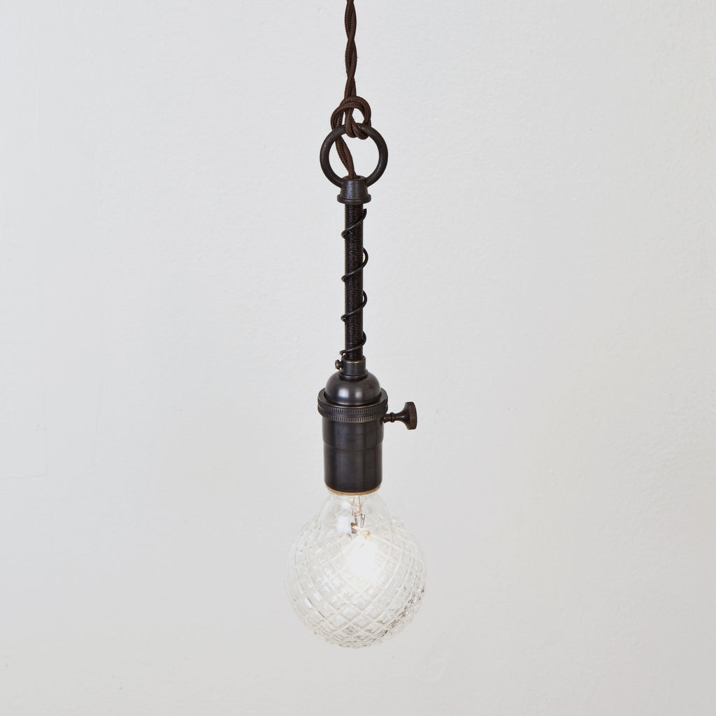 Industrial Spring Pendant w/ Switch Socket