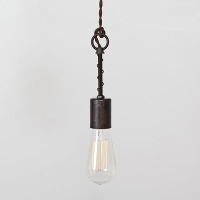 Industrial Spring Pendant Light - Simple Socket