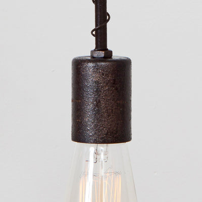 Industrial Spring Pendant Light - Simple Socket Detail