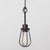 Oval Wire Bulb Cage Pendant Light - Simple Socket