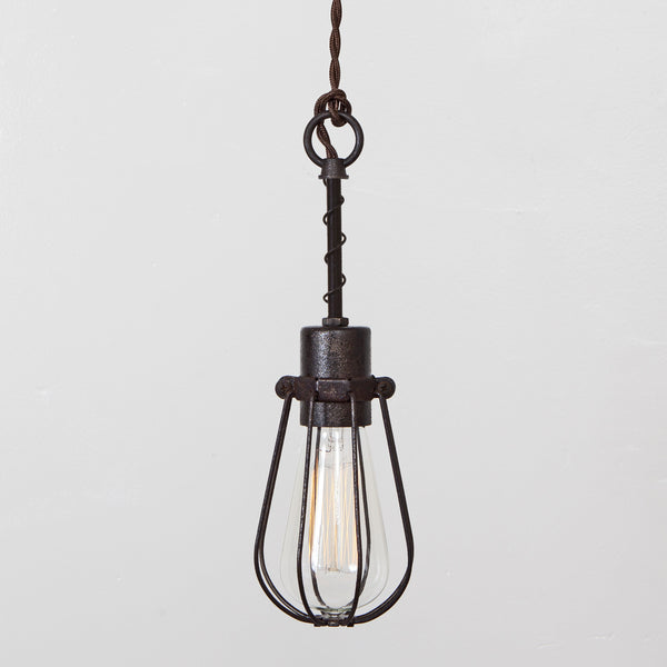 oval wire bulb cage pendant light simple socket cage pendant lighting