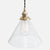 Vintage Socket Pendant Light - Clear Glass Cone Shade - Raw Brass Patina
