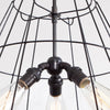 Vintage Lampshade Frame Chandelier - 6 Light - Detail