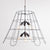 Vintage Lampshade Frame Chandelier - 6 Light