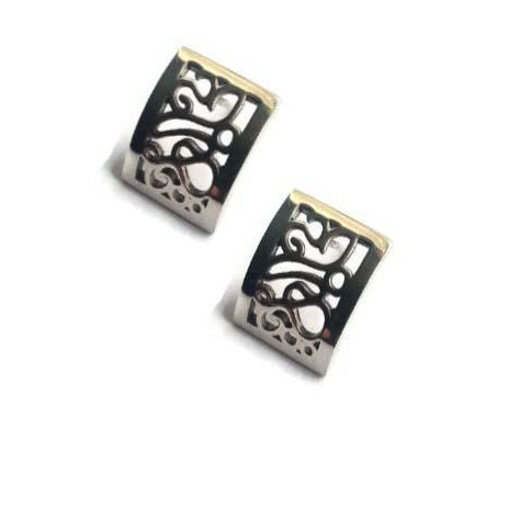 Telkari Rectangular Small Flat Studs