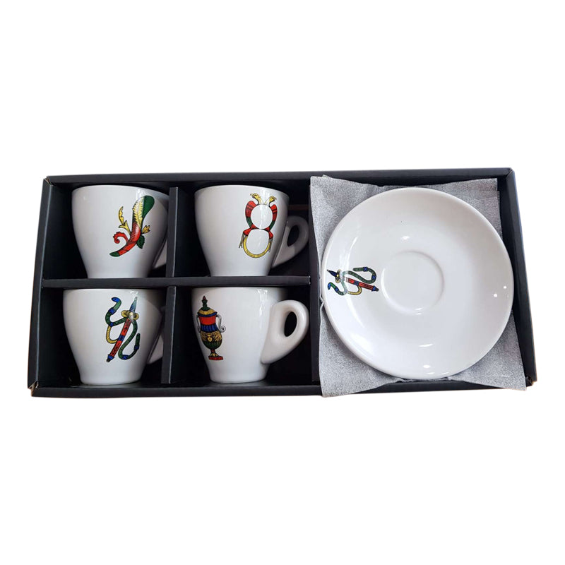 Scopa Briscola Italian Playing Cards - Espresso Cups 4 set