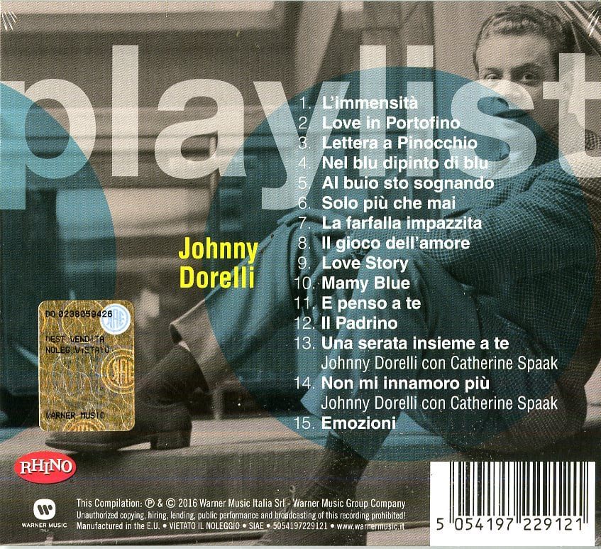 JOHNNY DORELLI - PLAYLIST