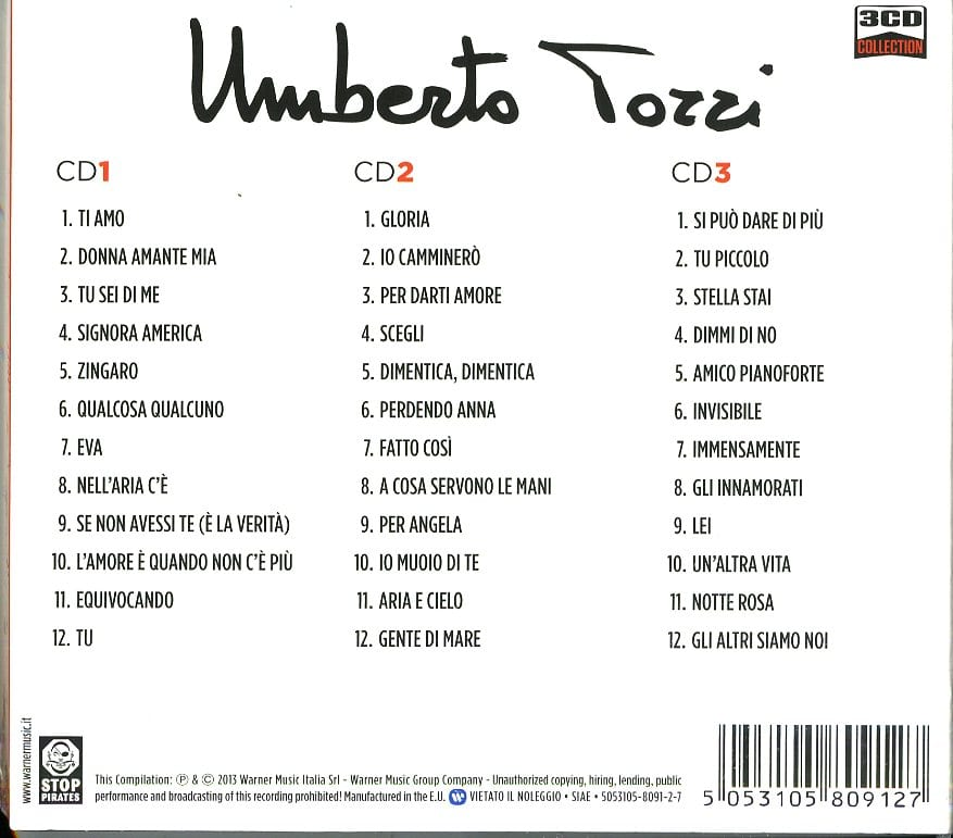 UMBERTO TOZZI - 3CD COLLECTION