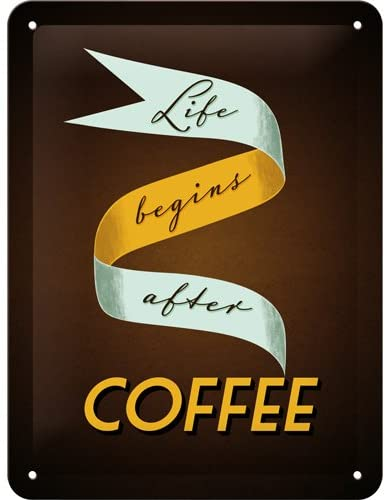 Life begins after Coffee Sign - Large (Size: 30x 40cm)