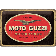 Moto Guzzi - Logo Sign - Medium (Size: 20x 30cm)