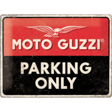 Moto Guzzi Parking Only Sign - Large (Size: 30x 40cm)