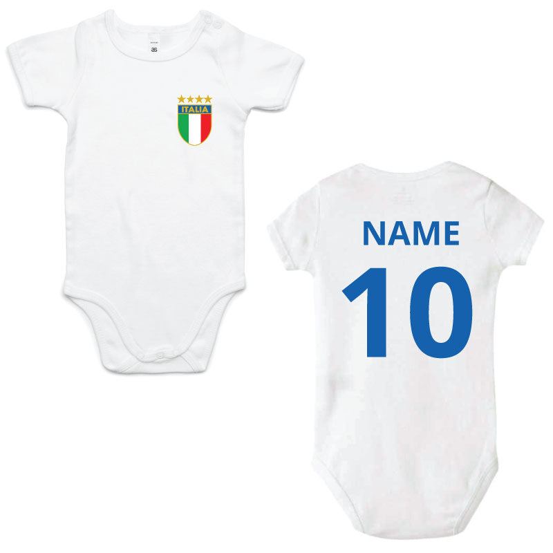 Italia 4 Star Baby Jumpsuit PERSONALISED