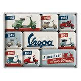Vespa Model Chart Magnet Set