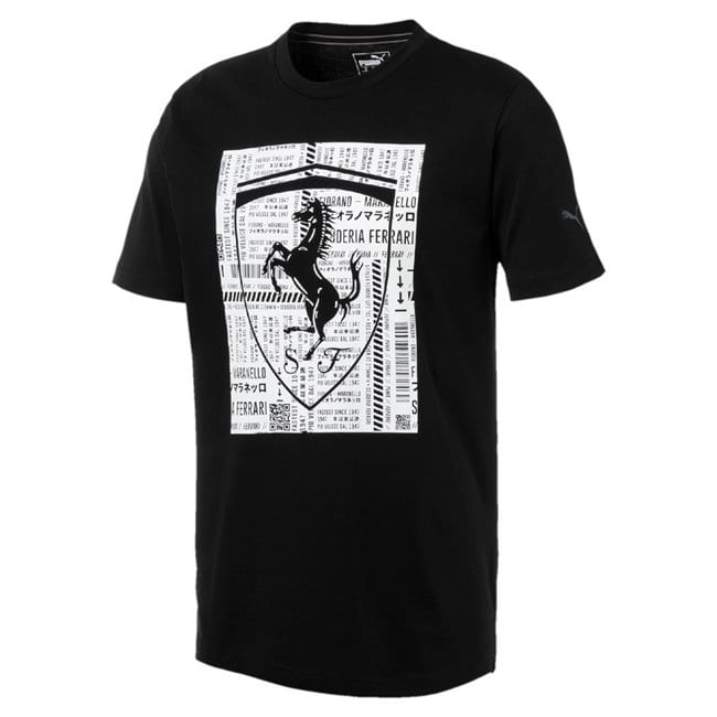 FERRARI BIG SHIELD TEE BLACK