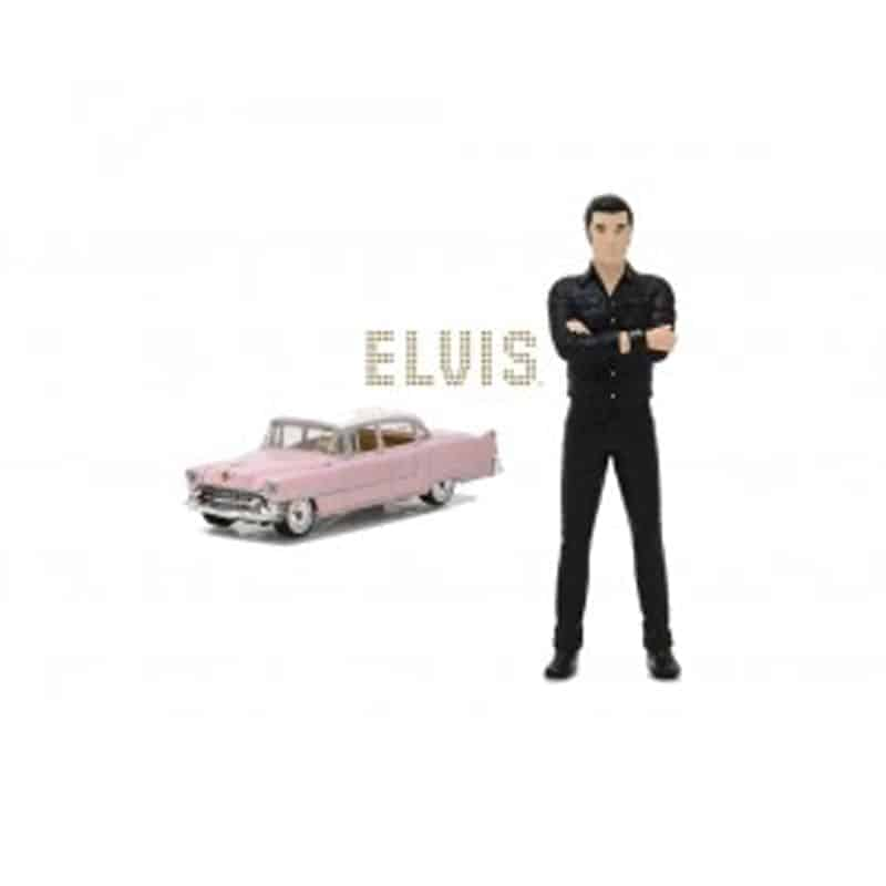 1:64 Elvis Presley (1935-77) - 1955 Cadillac Fleetwood Series 60 Pink Cadillac with 1:18 Elvis Figure