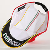 ABARTH CORSE BASEBALL CAP WHITE