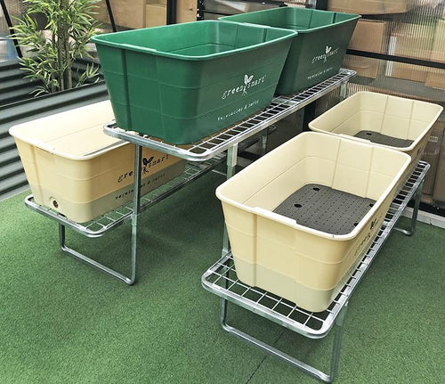 6 Pot Galvanised Stand - Sproutwell Greenhouses