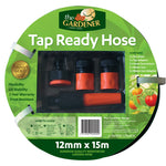Fitted 12mm x 15m Garden Hose
