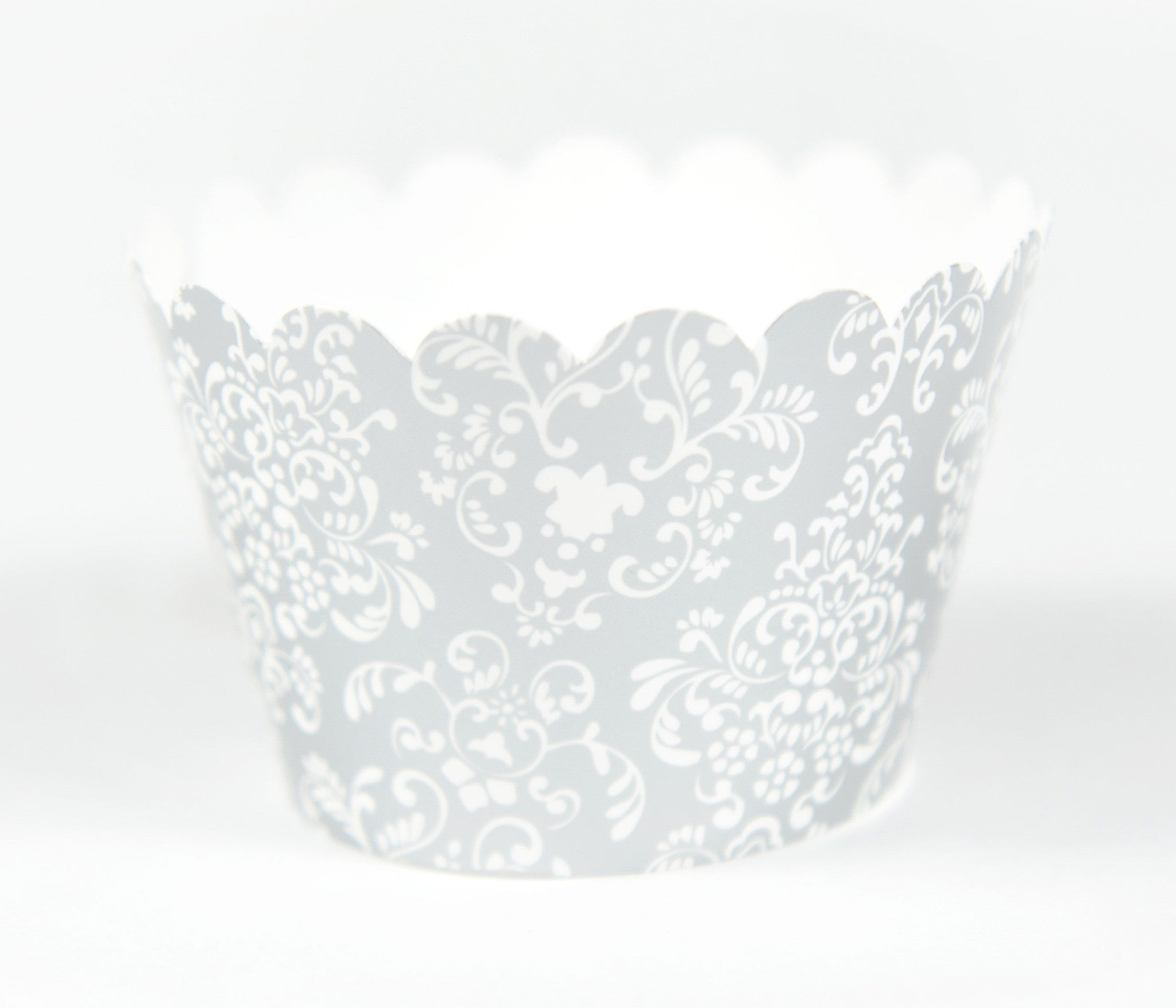 Cupcake Couture Damask Silver