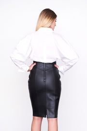 SORAYA - Black Leather Corset Skirt