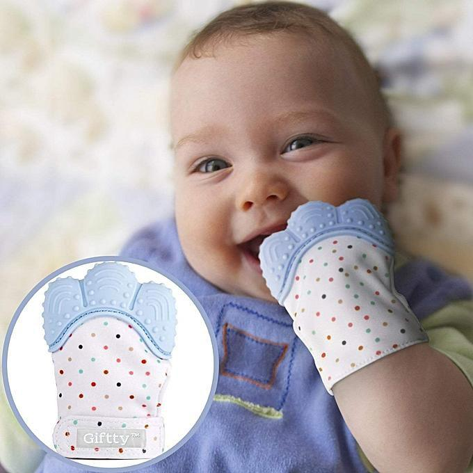 safe baby teething mitten