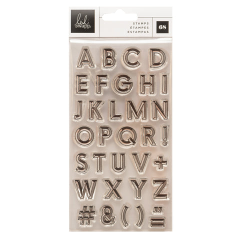 Old School Layering Alphabet Stamp Set
