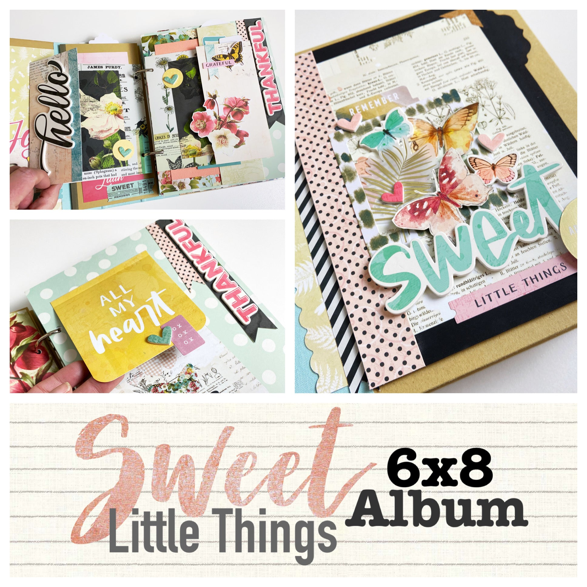 Sweet Little Things 6x8 Interactive Album