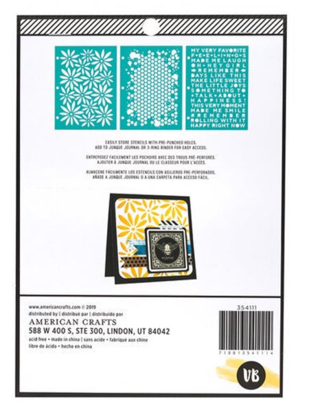 Honey Comb Stencil Set