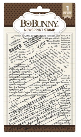 Bo Bunny Newsprint Stamp