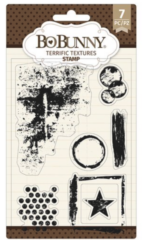 Terrific Textures Bo Bunny Stamp Set