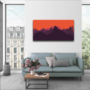 "40 x 20"" Canvas Premium Print - ""Haze"""