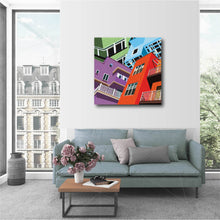 "Load image into Gallery viewer, 28 x 28"" Canvas Print - ""Merge"""