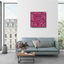 "Load image into Gallery viewer, 20 x 20"" Canvas Print - ""Pink & Purple"""