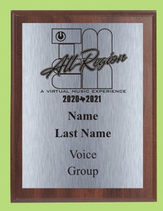 TMEA Musician's Award Custom Plaque