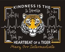Load image into Gallery viewer, Mary Orr Intermediate NEW 'Be Kind' Short Sleeve T Shirt with Front and Back Logo