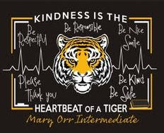 Mary Orr Intermediate NEW 'Be Kind' Short Sleeve T Shirt with Front and Back Logo