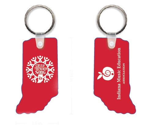 Circle the State with Song Custom KEY CHAIN