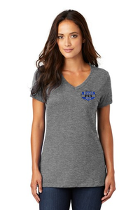 Women's V Neck T-Shirt with Miller Logo