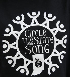 Circle the State with Song Custom SHORT SLEEVE T-SHIRT in Black