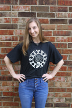 Load image into Gallery viewer, Circle the State with Song Custom SHORT SLEEVE T-SHIRT in Black