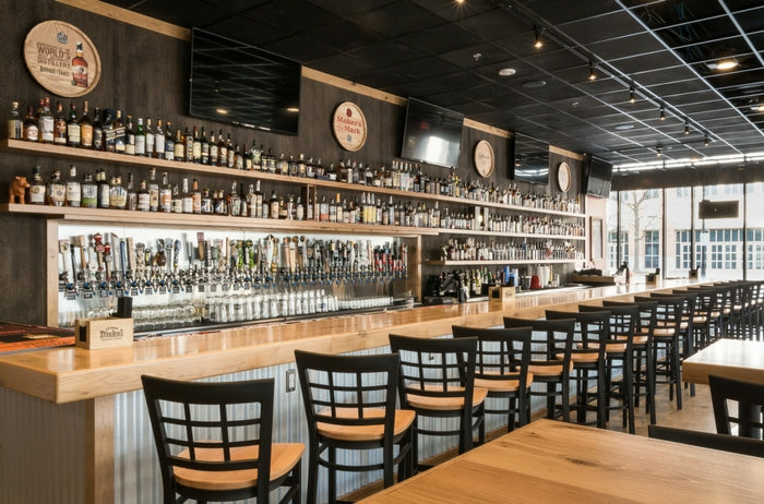 200+ bourbons at DOC'S Commerce Smokehouse