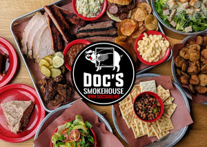 DOC'S Smokehouse BBQ Food Spread