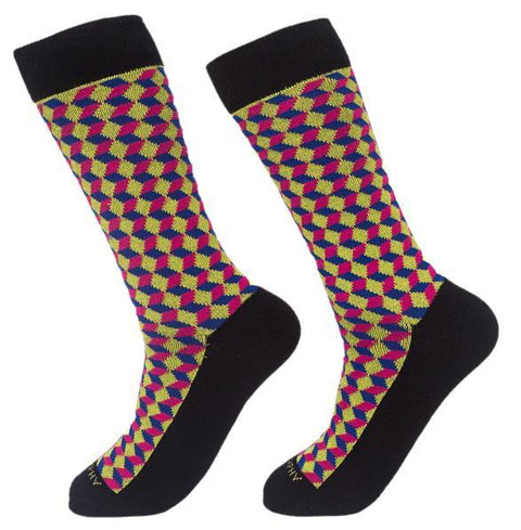 Socks-Squared-Cool-Patterns-Crew-Socks-neon