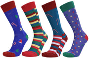 Assorted Socks (4 Pairs) - Holiday Colors