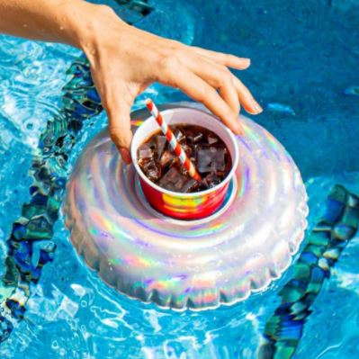 PoolCandy Inflatable Holographic Drink Float - PC141