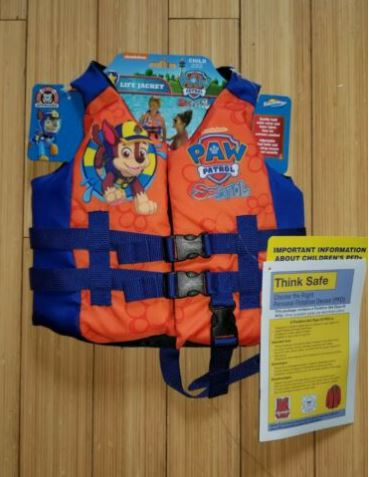 Swimways Nickelodeon Paw Patrol Child Life Jacket 30-50 Lb Coast Guard Approved - 63663