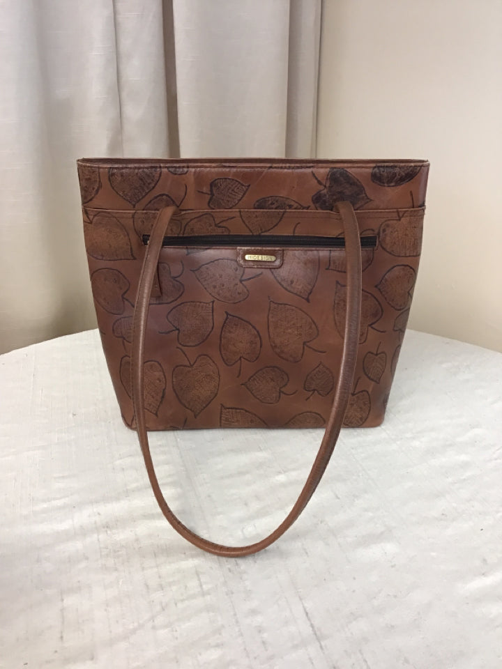 Hidesign Tan Leather Handbag