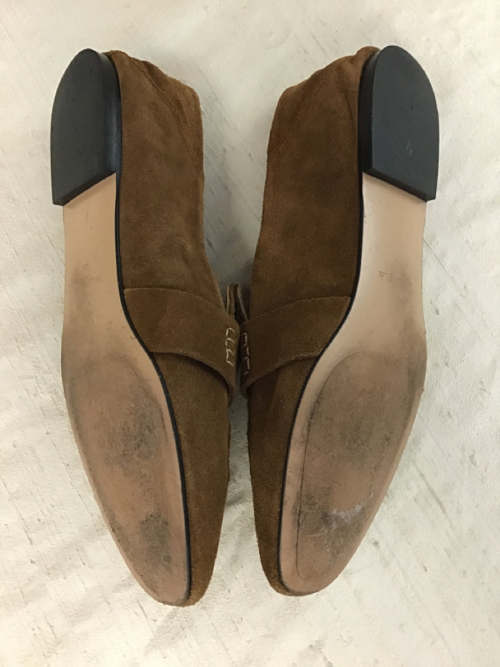 Massimo Dutti Size 9 Tan Suede Loafers